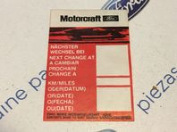 Ford Fiesta/Cortina/Capri/Escort New Genuine Ford service sticker